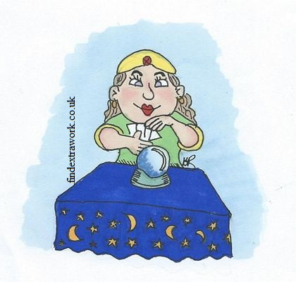 Psychic medium crystalball tarot card reader